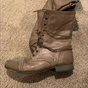 Steve Madden Troopa Combat Boots-Taupe